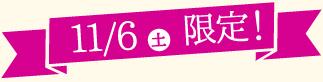 11/6土限定!